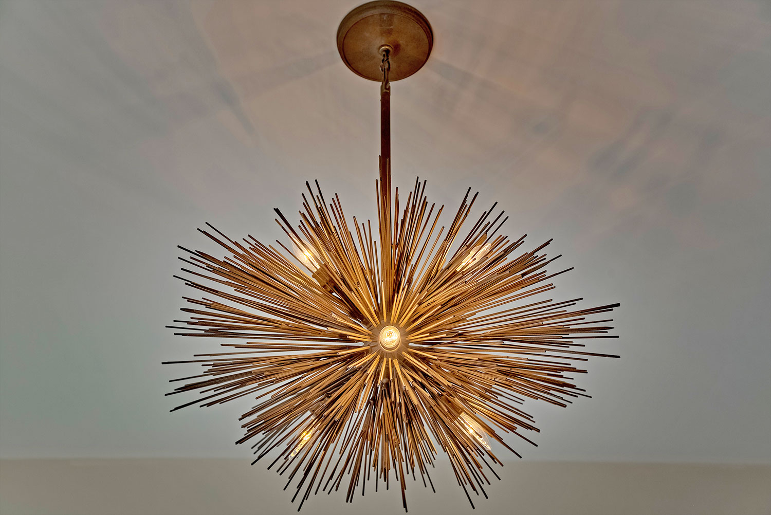 LIght fixture from master bedroom of the Telluride