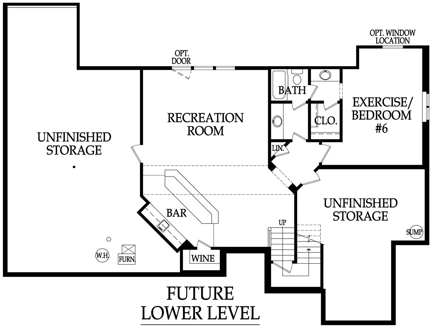 Anthem lower level possible layout