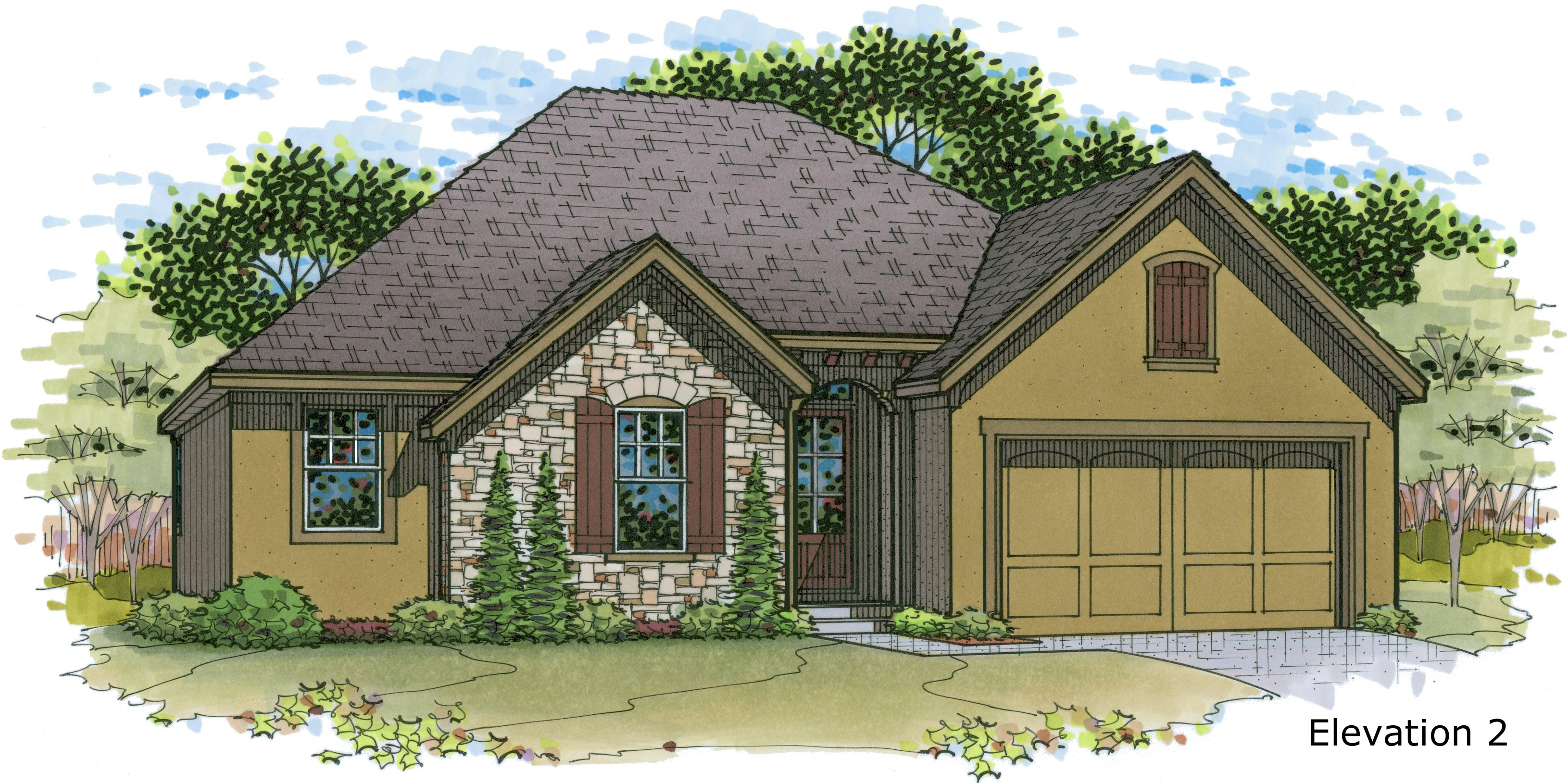 Augusta a reverse 1 5 story plan by rodrock homes for Reverse 1 5 story house plans