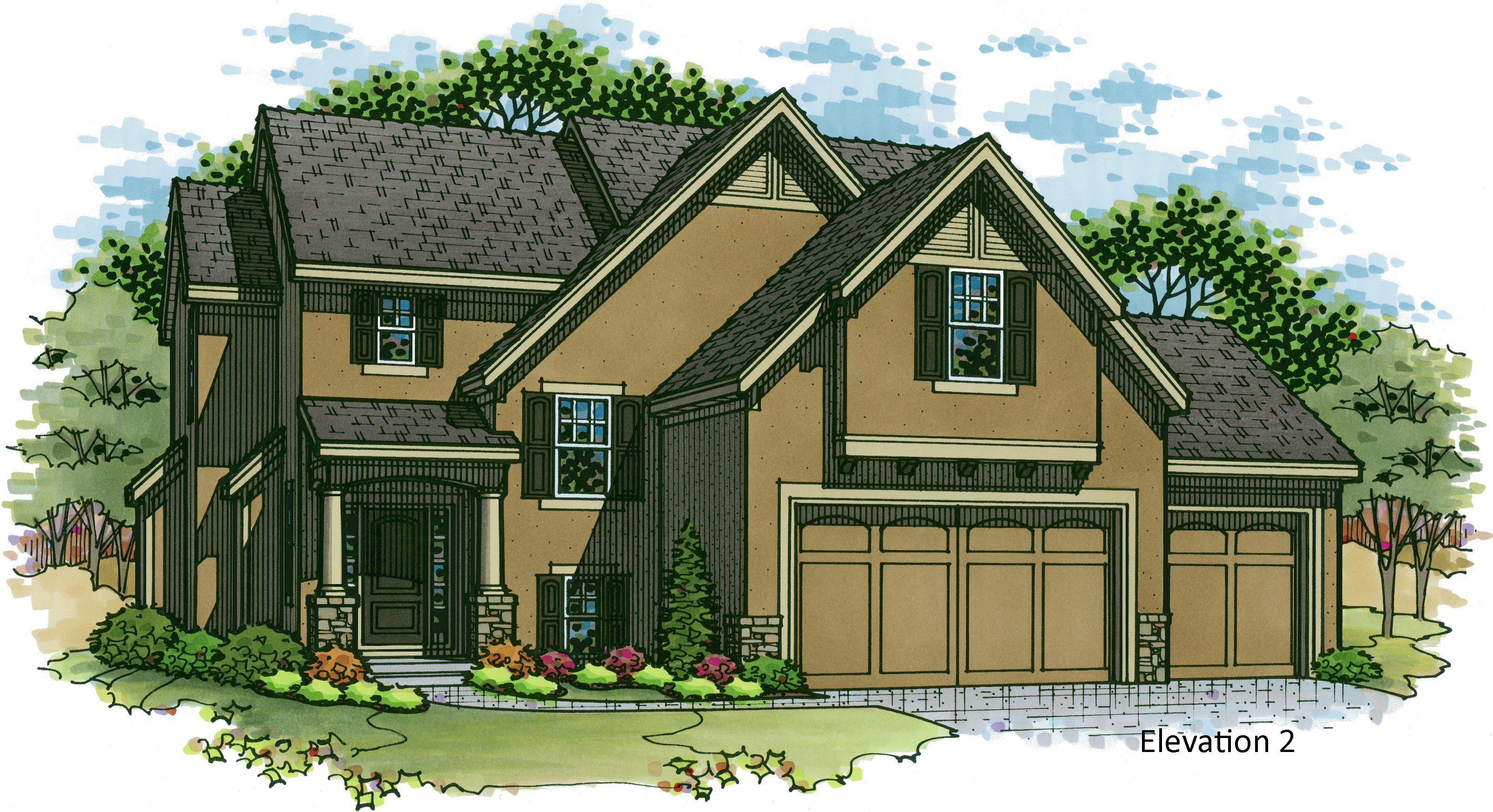 Destin EX elevation 2 color rendering