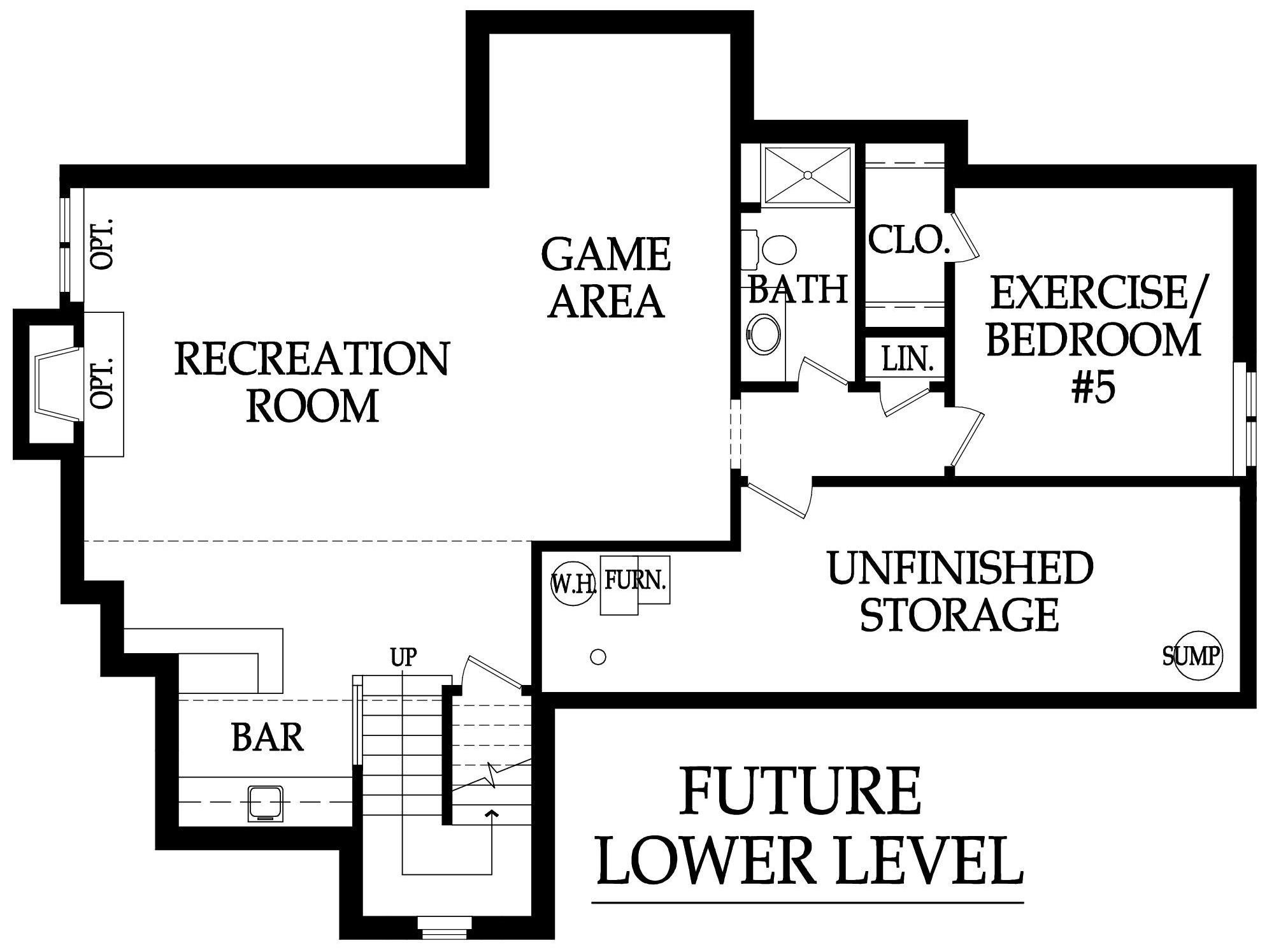 Destin EX Optional basement
