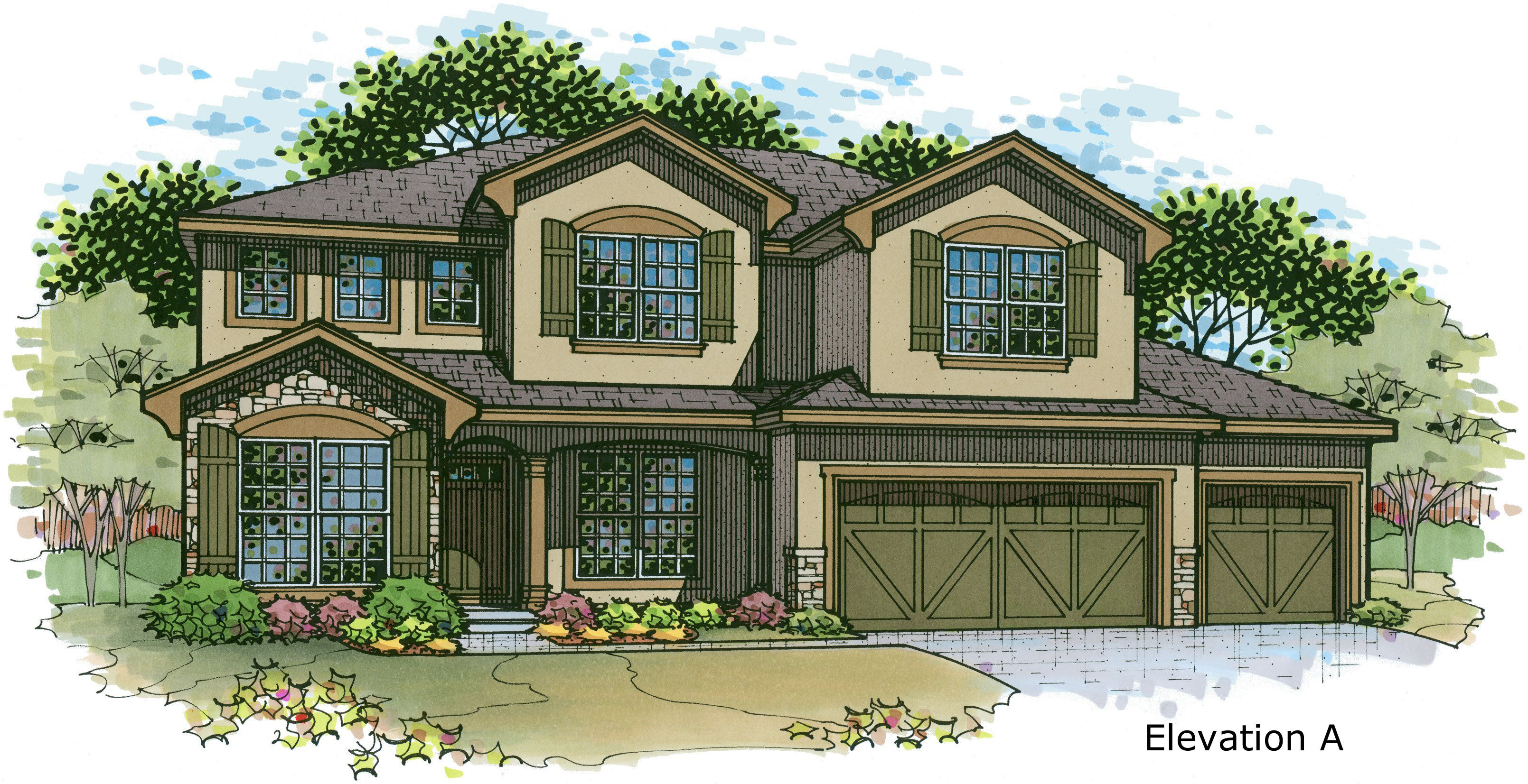 Irving elev. A color rendering