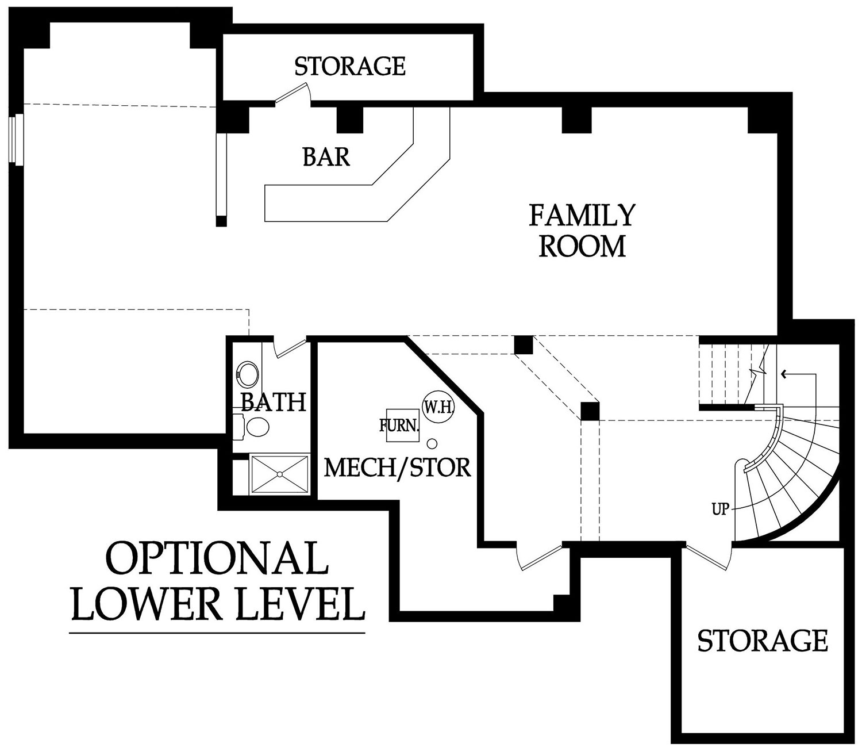 Larsen EX optional basement layout