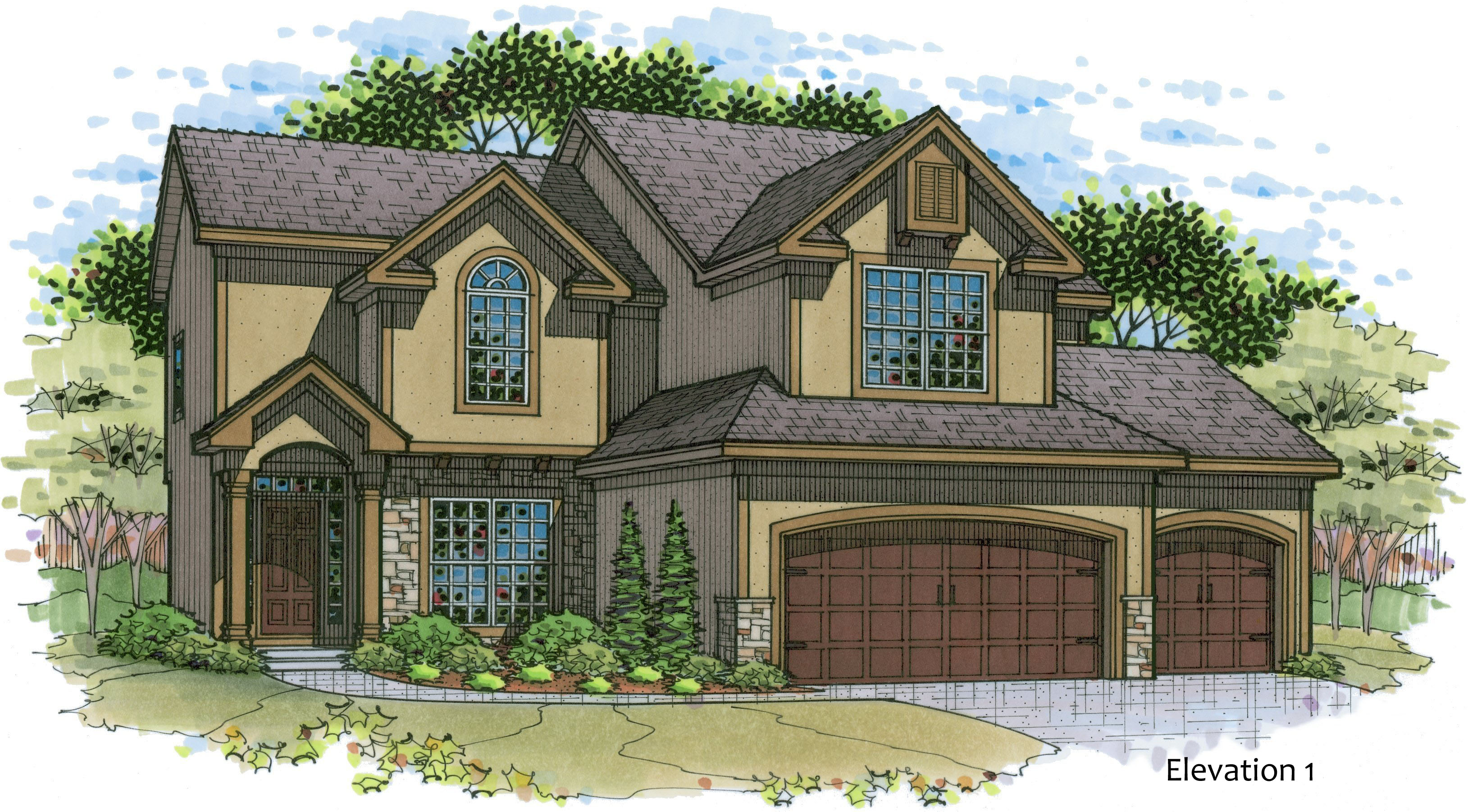 Madison elevation 1 color rendering