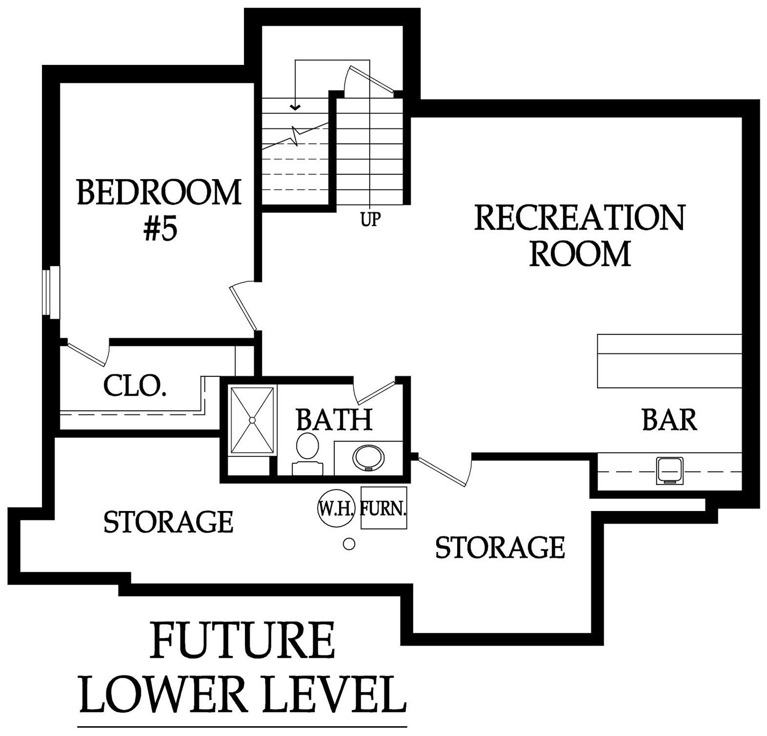 Weston III future basement layout rendering
