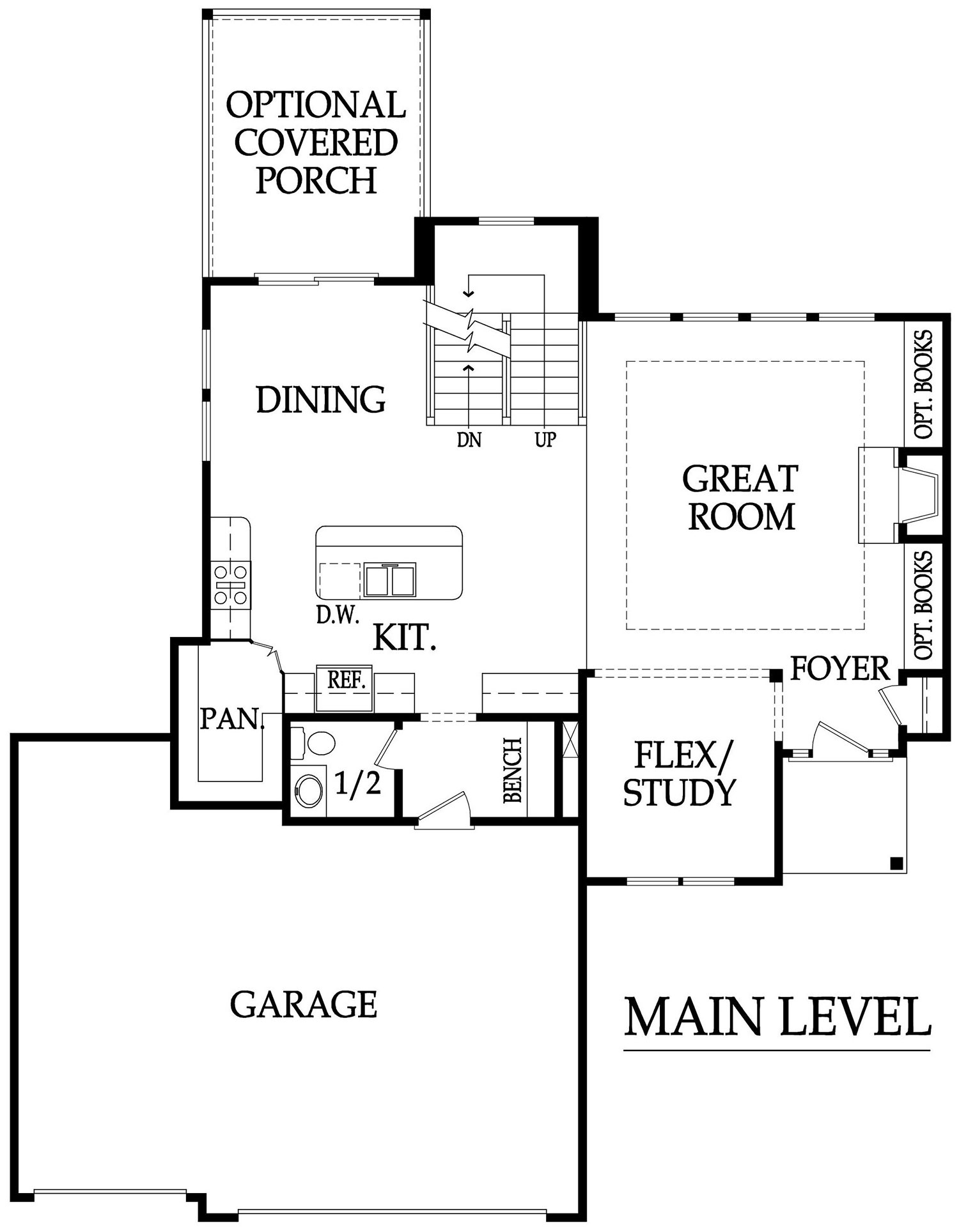 Weston III main level rendering